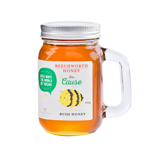 BCMASJAR400 Bee Cause Mason Jar 400g Web Res