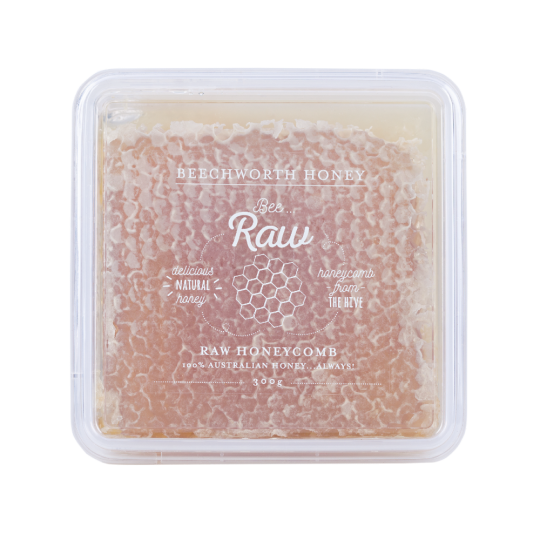 BRHONEBOX300_Bee Raw Honeycomb 300g Box