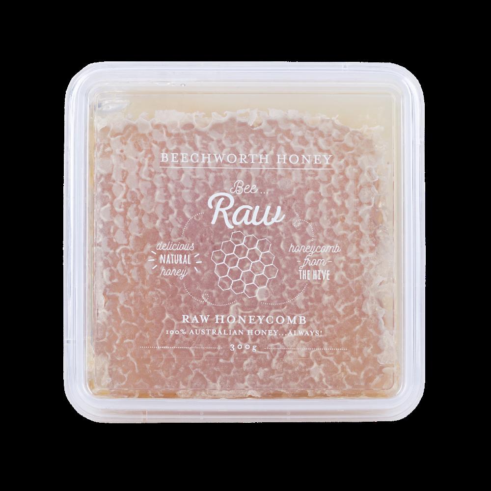 BRHONEBOX300_Bee Raw Honeycomb 300g Box