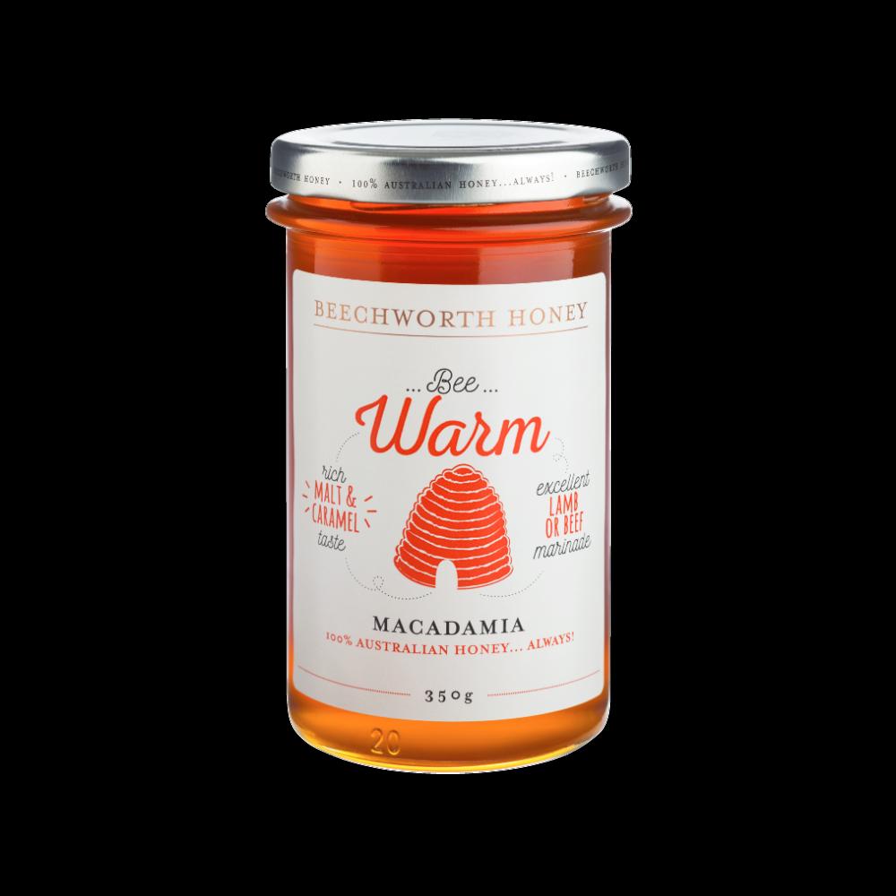 BWMACAJAR350_Beechworth-Honey-Bee-Warm-Macadamia-Jar