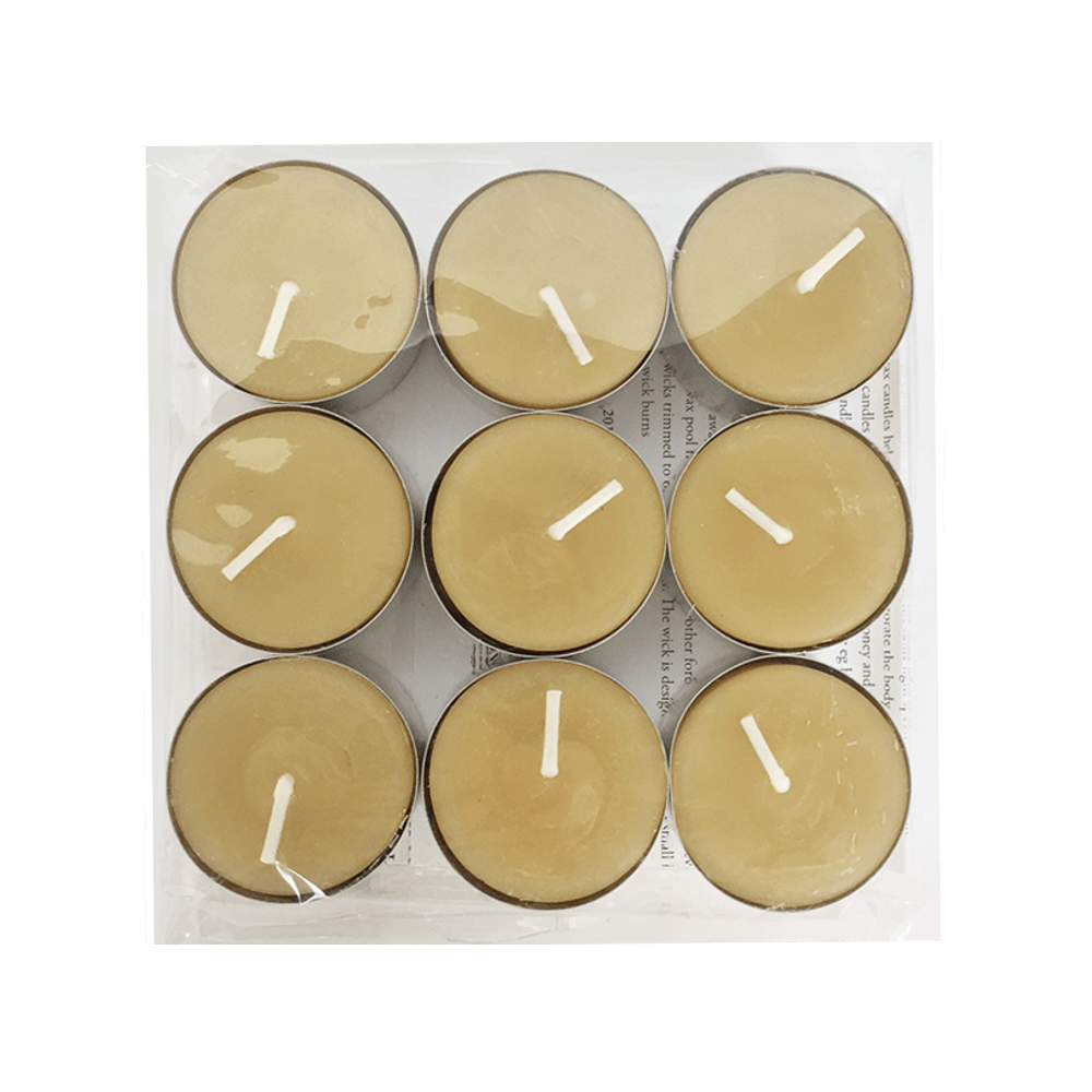 PTL9 - Beeswax Tealight Candles 9 pack