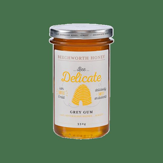 BDGRGUJAR350_Bee-Delicate-Grey-Gum-Honey-350g-Jar---LE